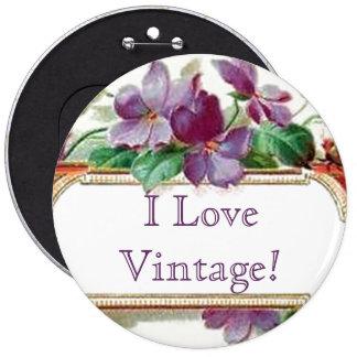 Tarjeta de visita violeta del vintage colorido ele pin redondo 15 cm