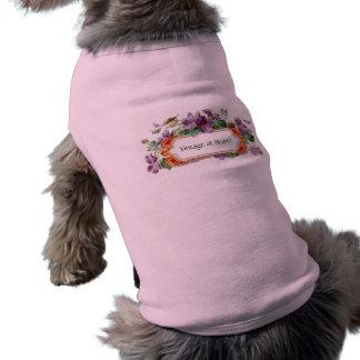 Tarjeta de visita violeta del vintage colorido ele playera sin mangas para perro
