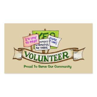Tarjeta de visita voluntaria