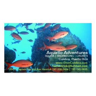 ¡Tarjeta de visitas acuática de las aventuras! Tarjetas De Visita