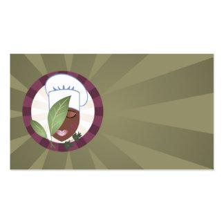 tarjeta de visitas afroamericana elegante del tarjetas de visita