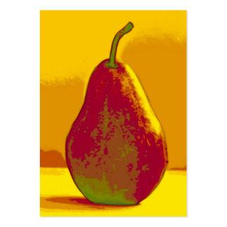 Tarjeta de visitas brillante de la pera
