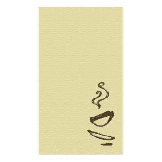 Tarjeta de visitas - café tarjetas de negocios