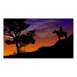 Tarjeta de visitas - colina de la puesta del sol tarjeta de negocio