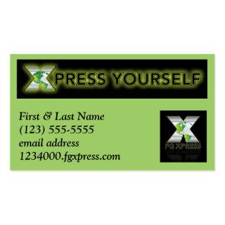 Tarjeta de visitas de FG Xpress #3 Tarjeta De Negocio
