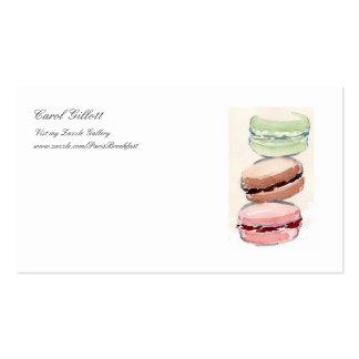 Tarjeta de visitas de Macarons del francés