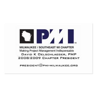 Tarjeta de visitas de PMI Milwaukee Tarjetas De Visita