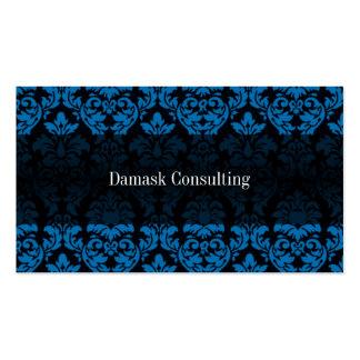 Tarjeta de visitas del damasco (azul) plantillas de tarjetas de visita