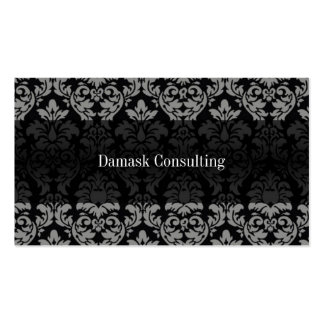 Tarjeta de visitas del damasco (gris) tarjetas de negocios