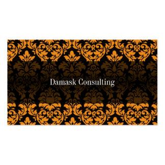 Tarjeta de visitas del damasco (naranja) tarjetas de visita