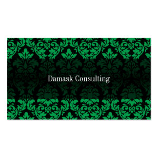 Tarjeta de visitas del damasco (verde) tarjetas personales