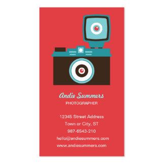 Tarjeta de visitas del fotógrafo de la cámara del plantillas de tarjeta de negocio