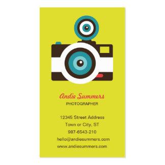 Tarjeta de visitas del fotógrafo de la cámara del tarjetas de visita