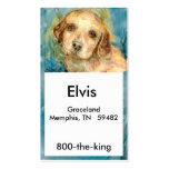 Tarjeta de visitas del perrito del perro perdiguer plantillas de tarjetas personales