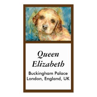 Tarjeta de visitas del perrito del perro tarjetas de visita