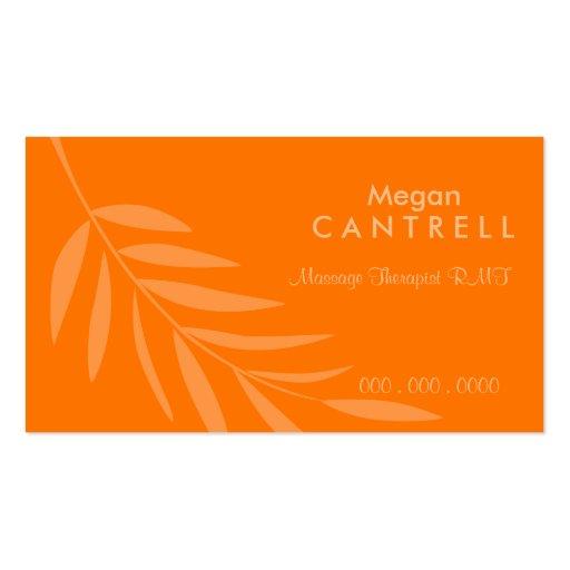 Tarjeta de visitas del terapeuta del masaje de la  plantillas de tarjetas de visita