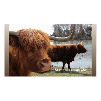 Tarjeta de visitas escocesa del del ganado de la