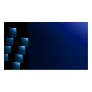 Tarjeta de visitas inusual moderna azul y negra de plantillas de tarjetas de visita