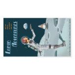Tarjeta de visitas lunar de las aventuras tarjetas de visita