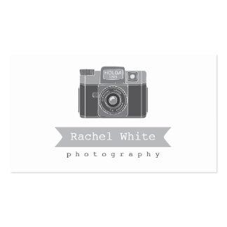 Tarjeta de visitas negra y blanca de la cámara del