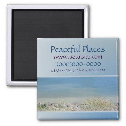 Tarjeta de visitas pacífica de los lugares imán de frigorífico