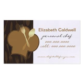 Tarjeta de visitas personal de oro del cocinero de plantilla de tarjeta de visita