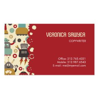 Tarjeta de visitas (poner crema) retra de los tarjetas de visita