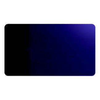 Tarjeta de visitas visual inusual azul profunda de plantilla de tarjeta de visita