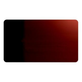 Tarjeta de visitas visual inusual negra de los tarjetas personales