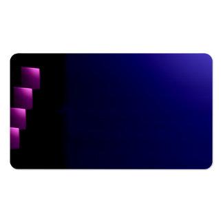 Tarjeta de visitas visual inusual púrpura de los tarjeta de visita