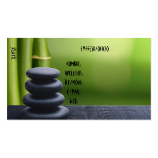 Tarjeta de Vista Bambú Tarjetas De Negocios