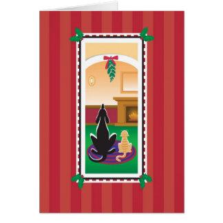 Tarjeta de WagsToWishes_Merry Kissmas