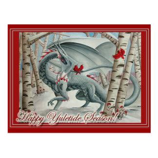 Tarjeta de Yule del navidad del dragón Postales