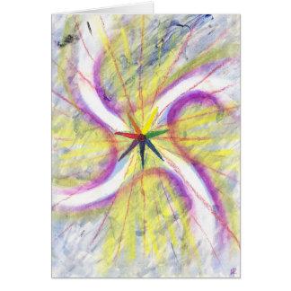 Tarjeta de Yule -- Estrella del solsticio