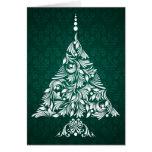 Tarjeta decorativa del árbol de navidad