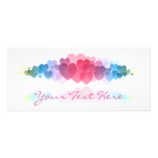 Tarjeta decorativa del estante de los corazones tarjetas publicitarias a todo color