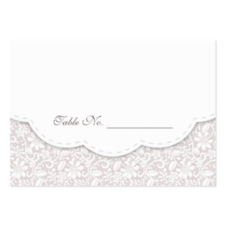 Tarjeta decorativa del lugar de la tabla del boda plantilla de tarjeta personal