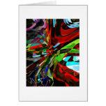 Tarjeta deformada colorida artsy (espacio en blanc