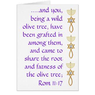 Tarjeta del 11:17 de los romanos con injertado en