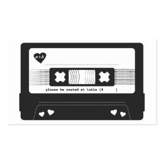 Tarjeta del acompañamiento de la cinta de la mezcl plantilla de tarjeta de visita