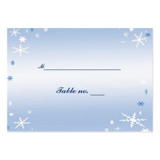 Tarjeta del acompañamiento del boda del invierno tarjetas de visita