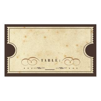 Tarjeta del acompañamiento del boleto del vintage tarjetas de visita