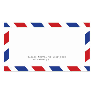 Tarjeta del acompañamiento del correo aéreo tarjetas de visita