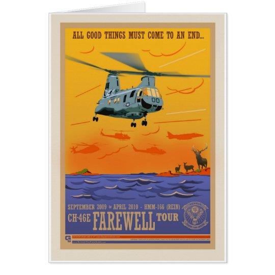 Tarjeta del adiós CH-46