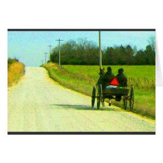 Tarjeta del adiós de Amish