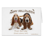 tarjeta del afloramiento de Halloween