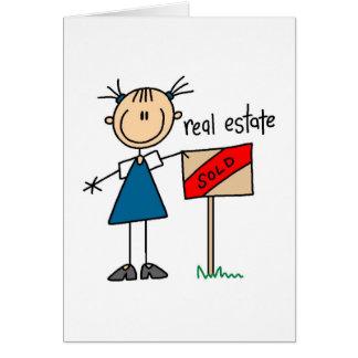Tarjeta del agente inmobiliario