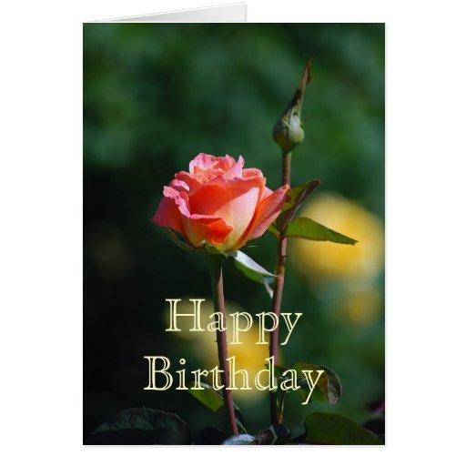 Tarjeta del albaricoque del feliz cumpleaños y del