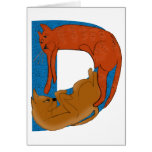 Tarjeta del alfabeto D del gato