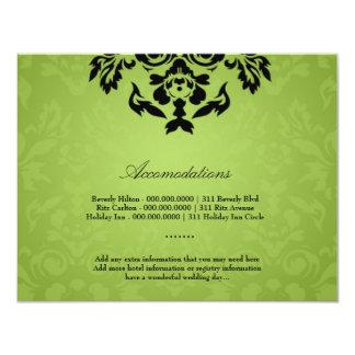 """tarjeta del alojamiento de la llama de la cal invitación 4.25"""" x 5.5"""""""